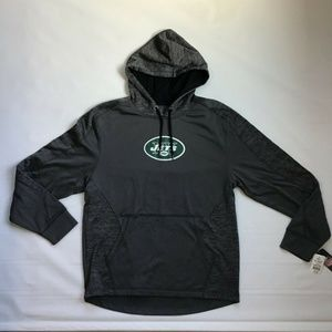 Fanatics Shirts - NY Jets Gang Green Logo Grey Hoodie NEW